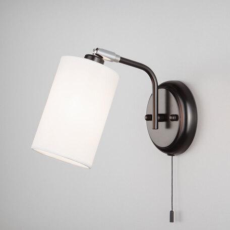 Бра с регулировкой направления света Eurosvet Duetto 70072/1 белый, 1xE14x40W, черный, белый, металл, текстиль