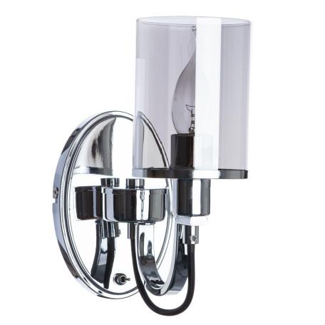 Бра Arte Lamp Ombra A2995AP-1CC, 1xE14x40W, хром, дымчатый, металл, стекло
