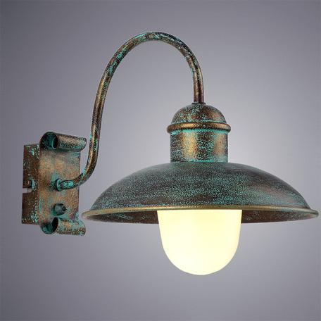 Бра Arte Lamp Passato A9255AP-1BG, 1xE27x60W, бирюзовый, металл, металл со стеклом - миниатюра 1