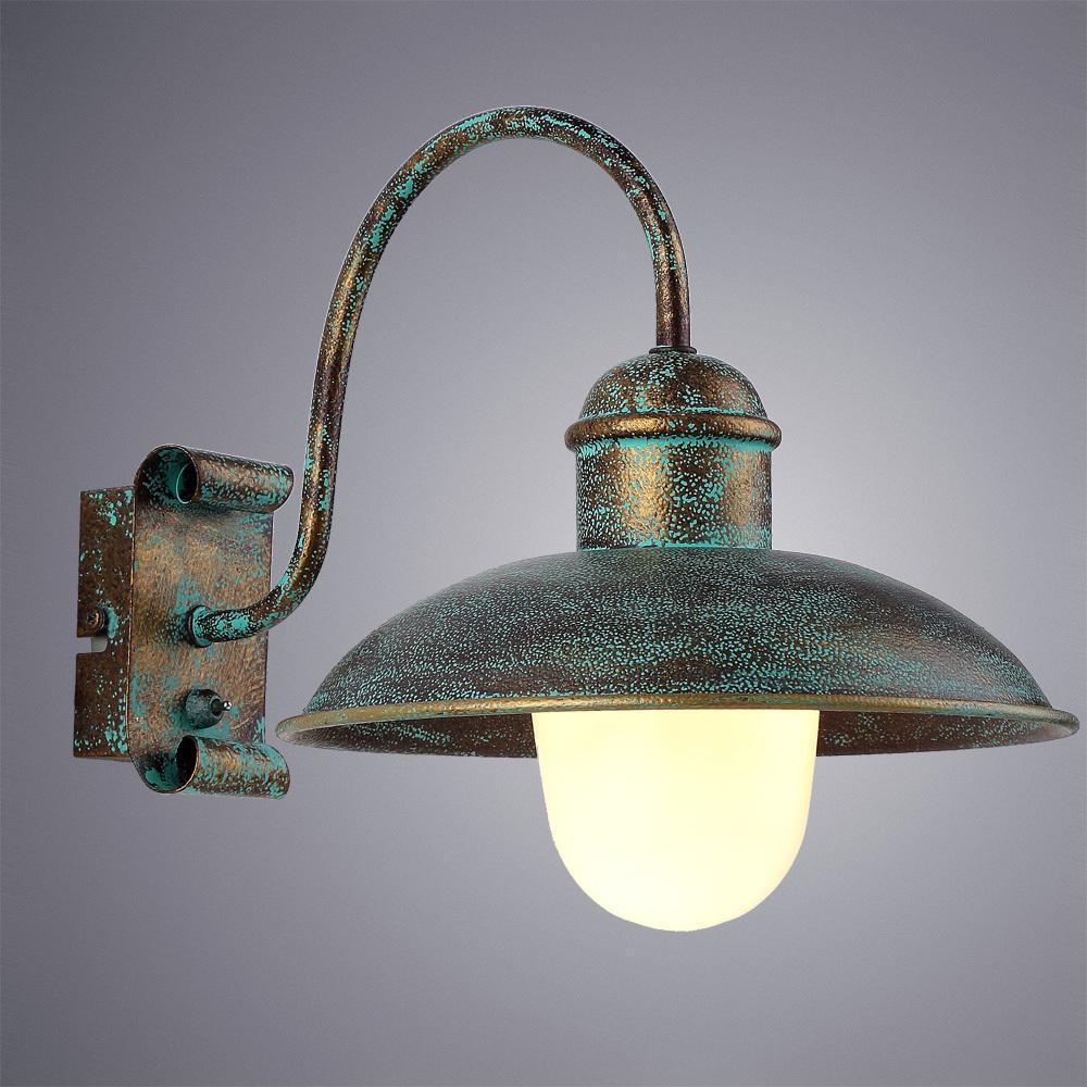 Бра Arte Lamp Passato A9255AP-1BG, 1xE27x60W, бирюзовый, металл, металл со стеклом - фото 1