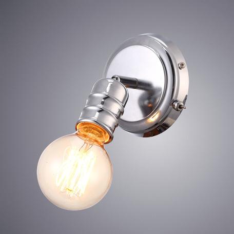 Настенный светильник с регулировкой направления света Arte Lamp Fuoco A9265AP-1CC, 1xE27x60W, хром, металл