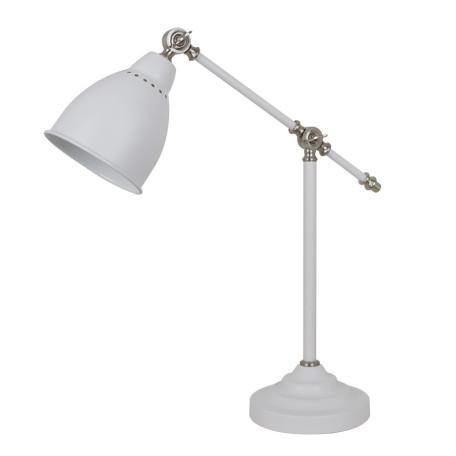 Настольная лампа Arte Lamp Braccio A2054LT-1WH, 1xE27x60W, белый с серебром, белый, металл