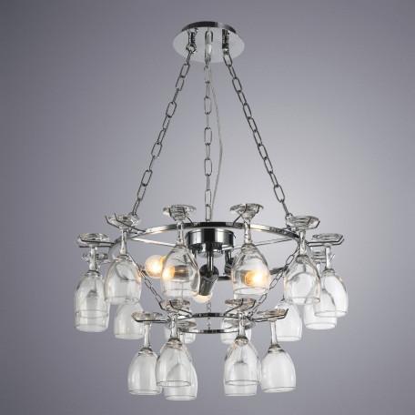 Подвесная люстра Arte Lamp Bancone A7042SP-3CC, 3xE27x60W, хром, прозрачный, металл, стекло