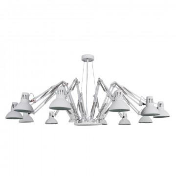 Подвесная люстра с регулировкой направления света Arte Lamp Ragno A2043SP-12WH, 12xE27x40W, белый, металл