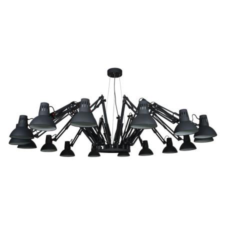 Подвесная люстра с регулировкой направления света Arte Lamp Ragno A2043SP-16BK, 16xE27x40W, черный, металл
