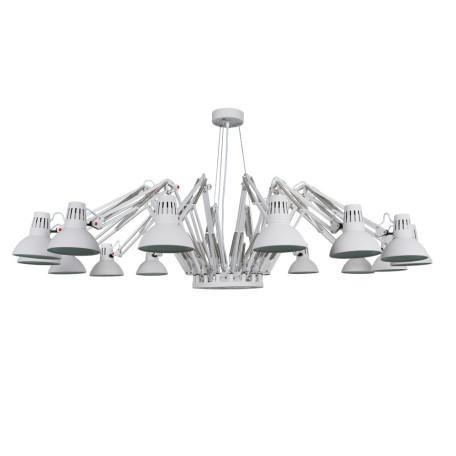 Подвесная люстра с регулировкой направления света Arte Lamp Ragno A2043SP-16WH, 16xE27x40W, белый, металл - миниатюра 1