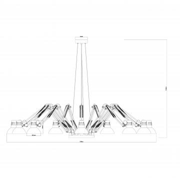 Схема с размерами Arte Lamp A2043SP-16WH