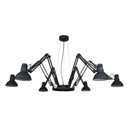 Подвесная люстра с регулировкой направления света Arte Lamp Ragno A2043SP-6BK, 6xE27x60W, черный, металл