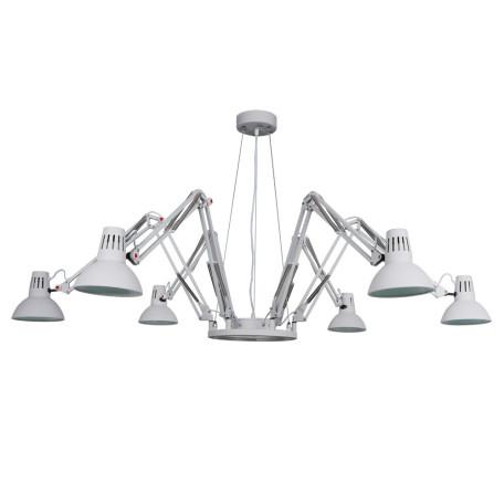 Подвесная люстра с регулировкой направления света Arte Lamp Ragno A2043SP-6WH, 6xE27x60W, белый, металл