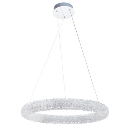 Подвесной светодиодный светильник Arte Lamp Lorella A1726SP-1CC, LED 46W 3000K 3200lm CRI≥80, хром, прозрачный, металл, хрусталь