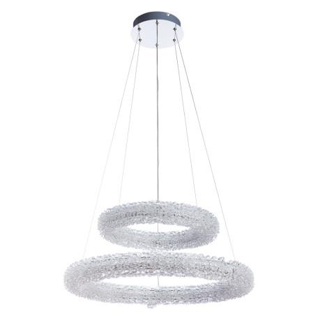Подвесной светодиодный светильник Arte Lamp Lorella A1726SP-2CC, LED 75W 3000K 5000lm CRI≥80, хром, прозрачный, металл, хрусталь - миниатюра 1