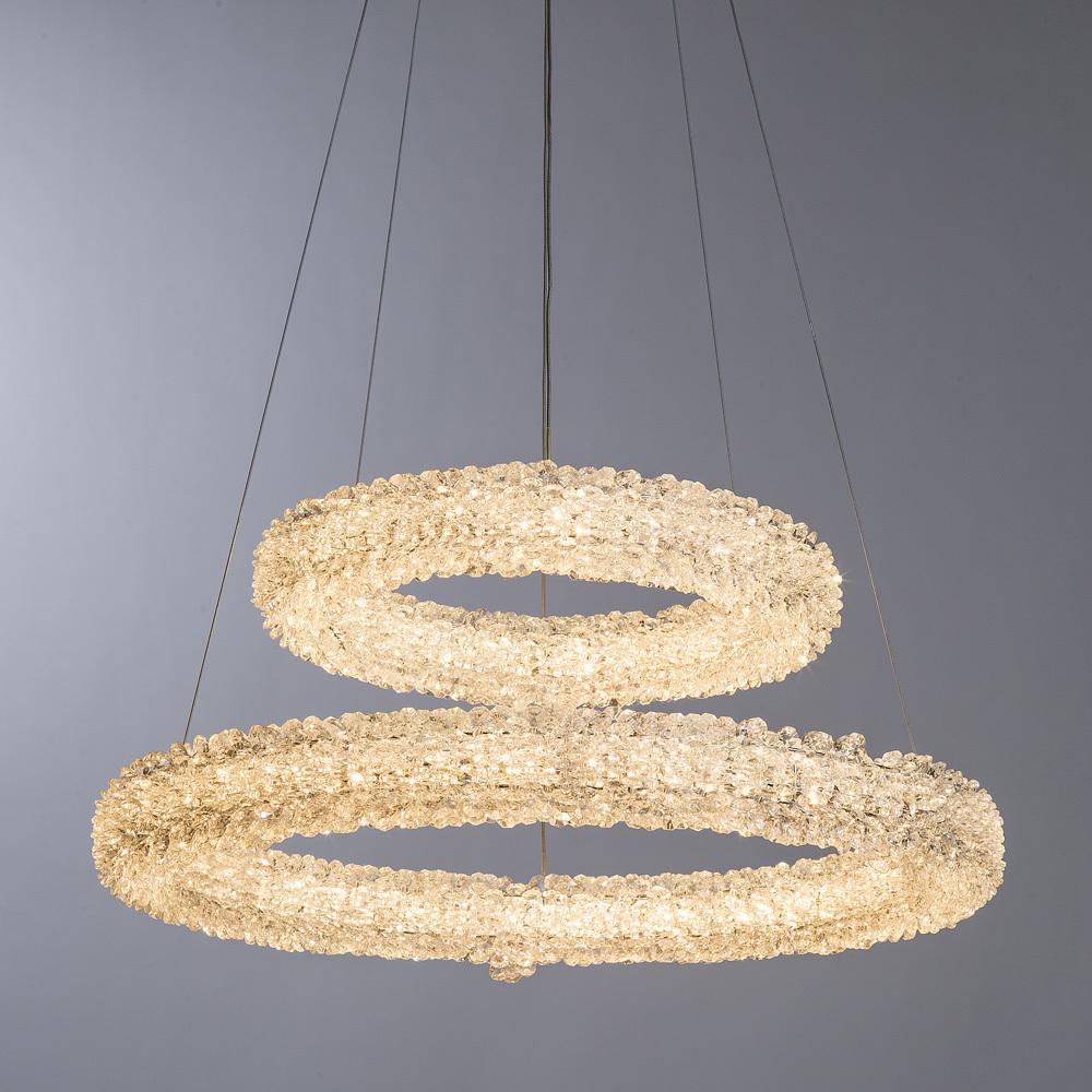 Подвесной светодиодный светильник Arte Lamp Lorella A1726SP-2CC, LED 75W 3000K 5000lm CRI≥80, хром, прозрачный, металл, хрусталь - фото 2