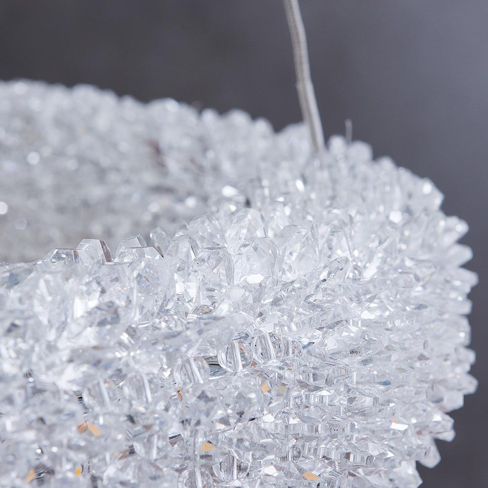 Подвесной светодиодный светильник Arte Lamp Lorella A1726SP-2CC, LED 75W 3000K 5000lm CRI≥80, хром, прозрачный, металл, хрусталь - фото 4