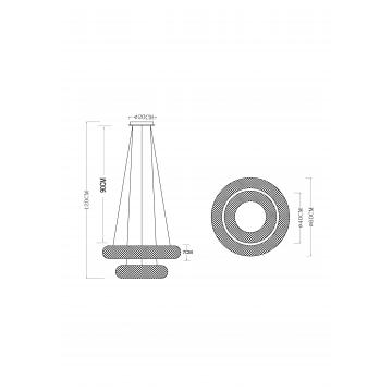 Схема с размерами Arte Lamp A1726SP-2CC
