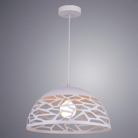 Подвесной светильник Arte Lamp Nido A3816SP-1WH, 1xE27x40W, белый, металл