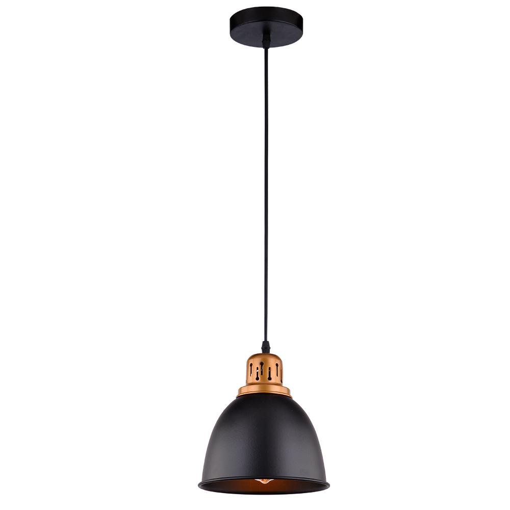 Подвесной светильник Arte Lamp Eurica A4245SP-1BK, 1xE27x60W, черный, металл - фото 1