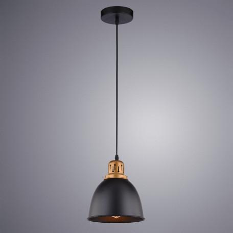 Подвесной светильник Arte Lamp Eurica A4245SP-1BK, 1xE27x60W, черный, металл - миниатюра 2