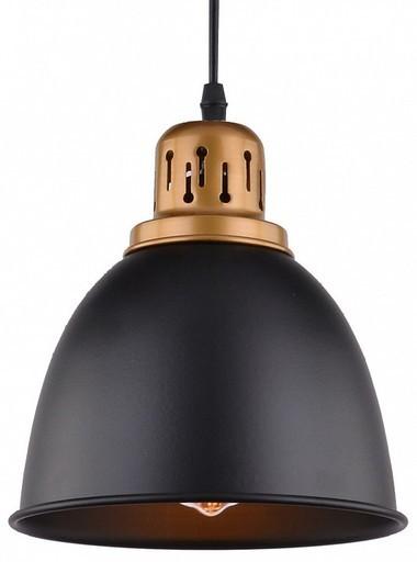 Подвесной светильник Arte Lamp Eurica A4245SP-1BK, 1xE27x60W, черный, металл - фото 3