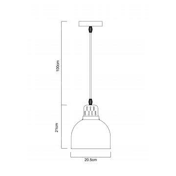 Схема с размерами Arte Lamp A4245SP-1BK