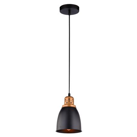 Подвесной светильник Arte Lamp Eurica A4248SP-1BK, 1xE27x60W, черный, металл