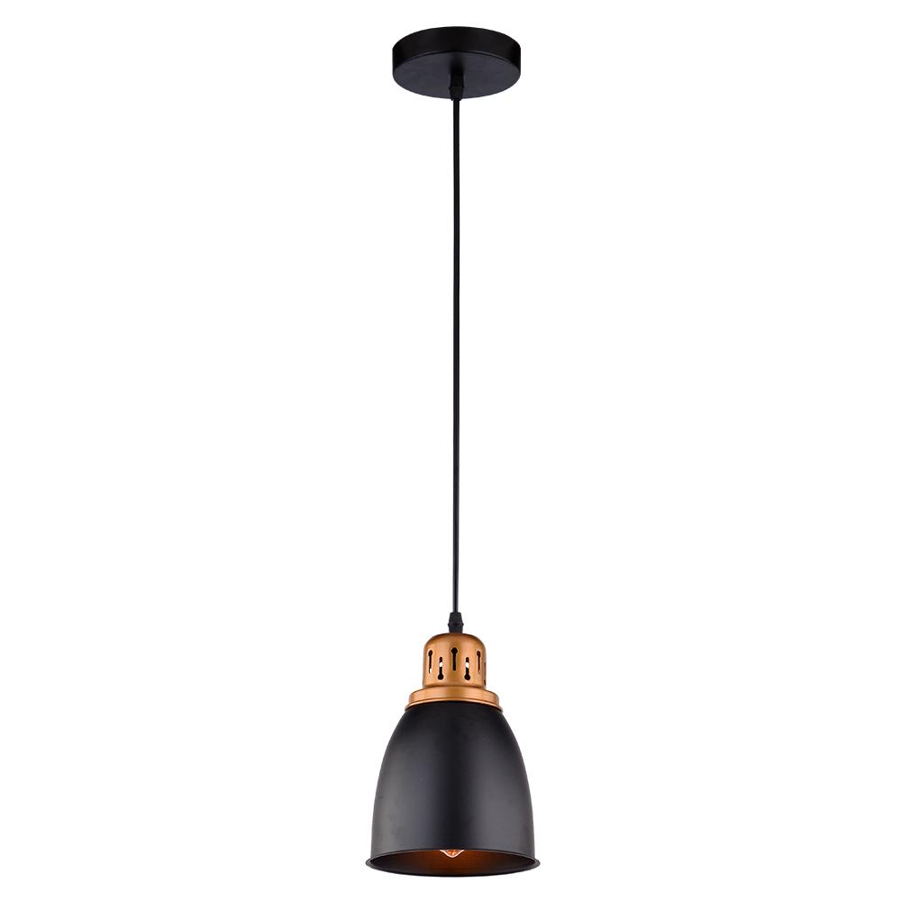 Подвесной светильник Arte Lamp Eurica A4248SP-1BK, 1xE27x60W, черный, металл - фото 1
