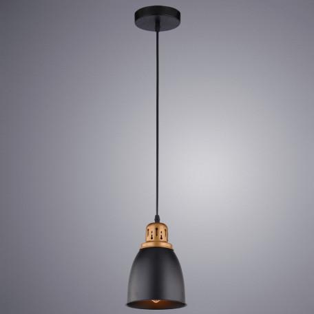 Подвесной светильник Arte Lamp Eurica A4248SP-1BK, 1xE27x60W, черный, металл - миниатюра 2