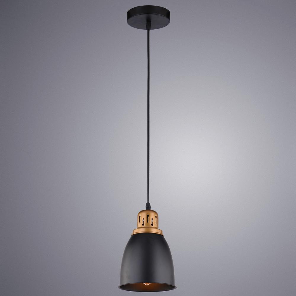 Подвесной светильник Arte Lamp Eurica A4248SP-1BK, 1xE27x60W, черный, металл - фото 2