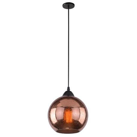 Подвесной светильник Arte Lamp Splendido A4285SP-1AC, 1xE27x40W, черный, медь, металл, стекло