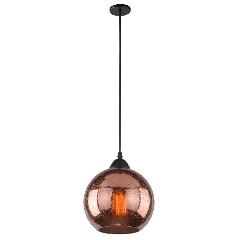 Подвесной светильник Arte Lamp Splendido A4285SP-1AC, 1xE27x40W, черный, медь, металл, стекло - фото 1
