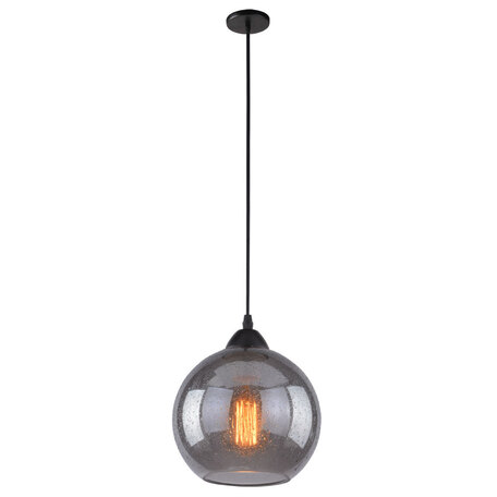 Подвесной светильник Arte Lamp Splendido A4285SP-1SM, 1xE27x40W, черный, дымчатый, металл, стекло