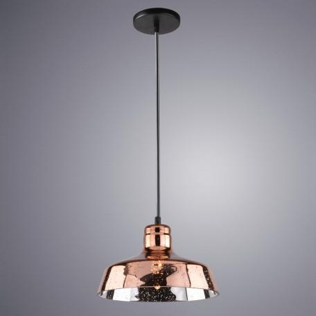 Подвесной светильник Arte Lamp Riflesso A4297SP-1AC, 1xE27x40W, черный, медь, металл, стекло