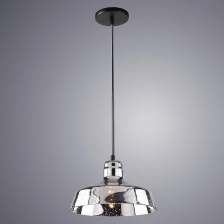 Подвесной светильник Arte Lamp Riflesso A4297SP-1CC, 1xE27x40W, черный, хром, металл, стекло