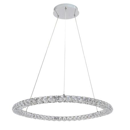 Подвесной светодиодный светильник Arte Lamp Preziosi A6704SP-1CC, хром, прозрачный, металл, хрусталь