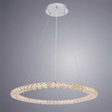 Подвесной светодиодный светильник Arte Lamp Preziosi A6704SP-1CC, хром, прозрачный, металл, хрусталь - миниатюра 2