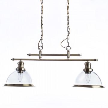 Подвесной светильник Arte Lamp Oglio A9273SP-2AB, 2xE27x60W, бронза, прозрачный, металл, стекло