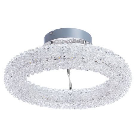 Потолочная светодиодная люстра Arte Lamp Lorella A1726PL-1CC, LED 30W 3000K 2000lm CRI≥80, хром, прозрачный, металл, хрусталь