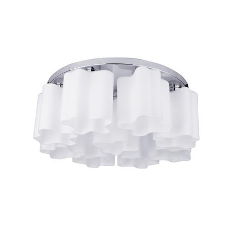 Потолочная люстра Arte Lamp Serenata A3479PL-9CC, 9xE27x40W, хром, белый, металл, стекло