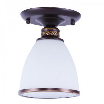 Потолочный светильник Arte Lamp Bonito A9518PL-1BA, 1xE27x40W, коричневый, матовое золото, белый, металл, стекло