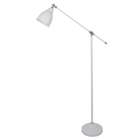 Торшер Arte Lamp Braccio A2054PN-1WH, 1xE27x60W, белый, металл