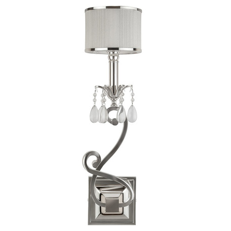 Бра L'Arte Luce Luxury Lombard L00528, 1xE14x40W, металл, текстиль, хрусталь