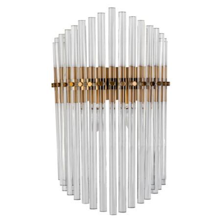 Настенный светильник L'Arte Luce Luxury Bracciano L07622, 2xE14x40W, металл, стекло