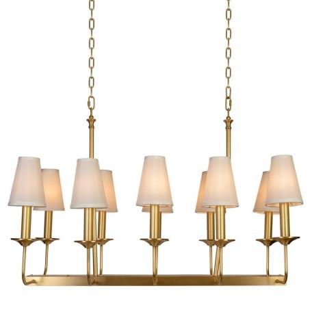 Подвесная люстра L'Arte Luce Luxury Orta L07110, 10xE14x40W, металл, текстиль