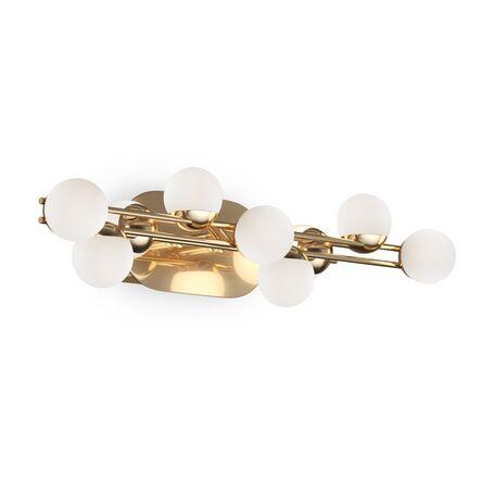 Светодиодный светильник Maytoni Modern Tessara MOD081WL-L13G3K, LED 13W 3000K 1300lm CRI80, золото, белый, металл, пластик