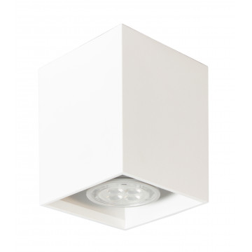 Потолочный светильник Topdecor Tubo8 SQ P1 10, 1xGU10x50W, белый, металл