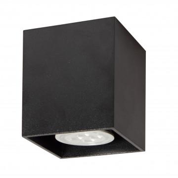 Потолочный светильник Topdecor Tubo8 SQ P1 12, 1xGU10x50W, черный, металл