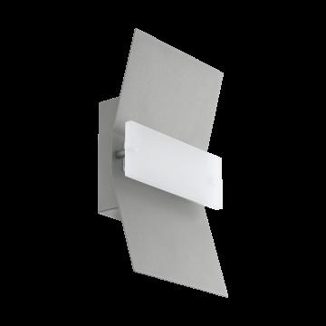 Настенный светодиодный светильник Eglo Binasco 97158, IP44, LED 4,8W 3000K 500lm, серебро, белый, металл, пластик