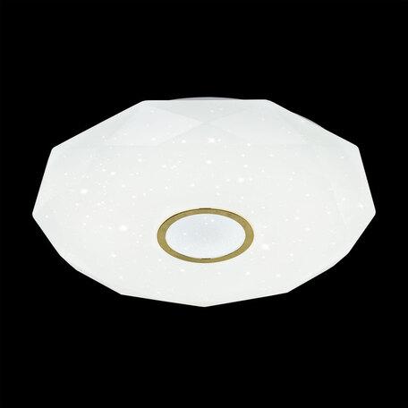 Потолочный светодиодный светильник с пультом ДУ Citilux Диамант CL71382R, IP44, LED 80W, 3000-4500K/RGB, белый, золото, металл, пластик