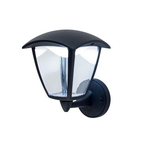 Настенный светодиодный фонарь Citilux CLU04W1, IP54, LED 7W 4000K 500lm, черный, прозрачный, металл, металл со стеклом