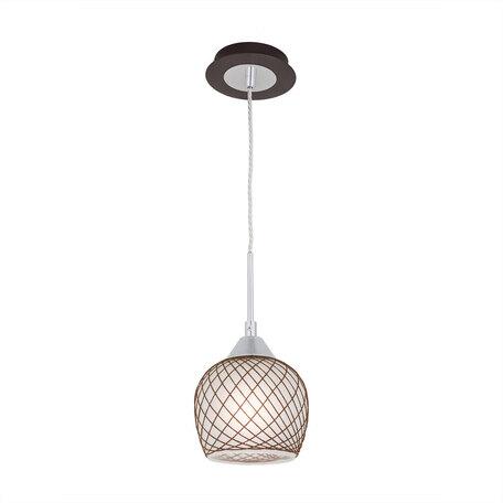 Подвесной светильник Citilux Сюзи CL171112, 1xE27x75W, венге, коричневый, металл, стекло