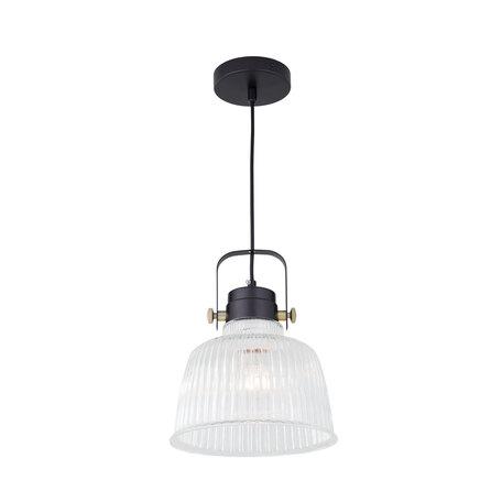 Подвесной светильник с регулировкой направления света Citilux Спенсер CL448111, 1xE27x75W, черный, белый, металл, стекло